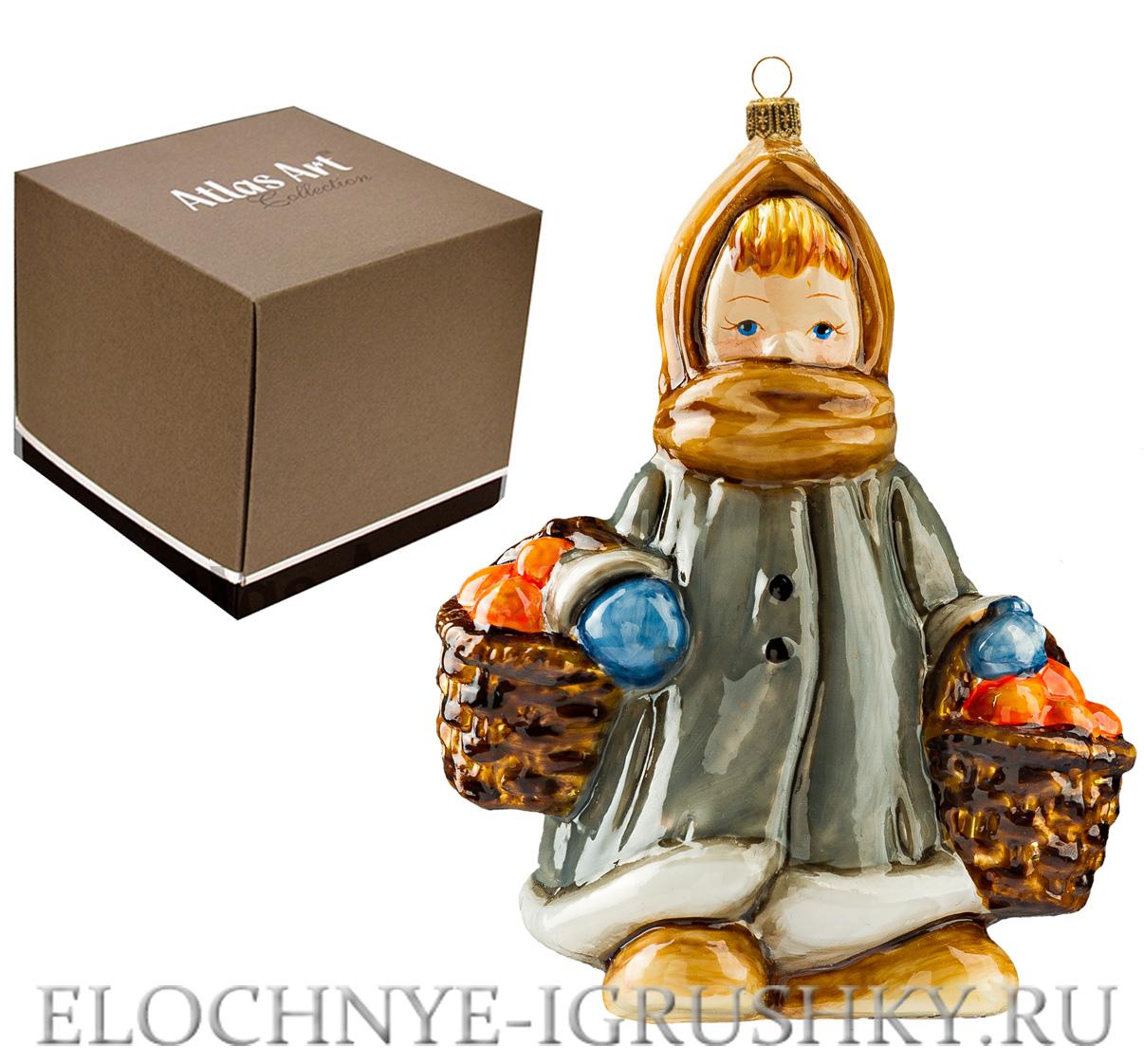 Елочная игрушка «Девочка с апельсинами» Atlas Art — купить ...